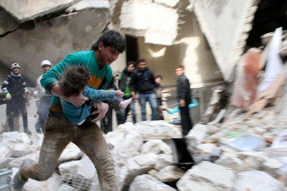 Menschen in Not in Aleppo